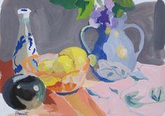 Gouache - Linda Hunt Fine Art Glassine Envelopes, Still Life Fruit, Gouache Painting, Frame It, American Artists, Art Tutorials, Mixed Media, Watercolor, Shapes
