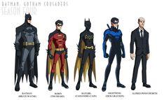 Batman: Gotham Crusaders - Season Three by phil-cho on DeviantArt Nightwing, Batgirl, Catwoman, Supergirl, Deadshot, Deathstroke, Tim Drake Red Robin, Talia Al Ghul, Killer Croc
