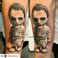 #Repost @tdantattoo with @repostapp  Joker by @dannytr4n done with @worldfamousink @skingrafix Sorry for bad photo #PlasticCell by plasticcell