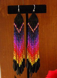 Fiesta de los Muertos - Ombre Fringe Earrings