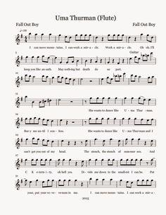 Flute Sheet Music: Uma Thurman - Sheet Music