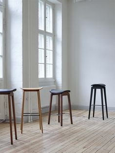 The NY11 Bar Chair in the two heights available from NORR11
