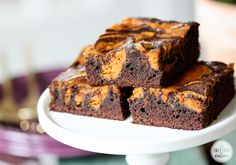 Pumpkin Brownies - YUM!  | Inspired by Charm