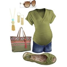 Maternity Casual in Olive by miclynn1974 on Polyvore