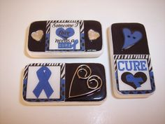 Colon Cancer Awareness Domino Magnets  Set by KimsCraftyCreations, $8.99