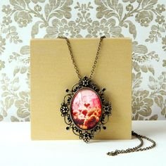 Valentines Day Tree Of Love  Large Brass Photo Pendant by EvesEye, $32.00