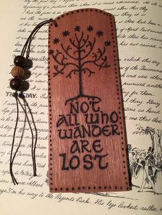Bookmark Lord of the Rings woodburning on ply. by Theburnttree