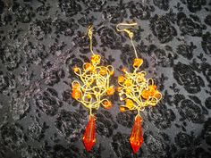 Romantic bridesmaid Earrings/The Snow Queen/with by Endladesign