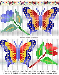 free-beading-pattern-belt-woodland-butterfly