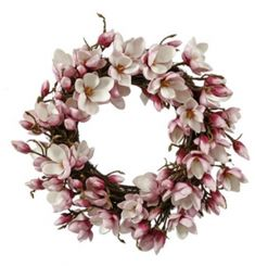 The Jane Seymour 24 in. Japanese Magnolia Wreath is excellent for celebrating the essence of Spring or gifting for Mother's Day. Magnolia Flower, Jane Magnolia, Jane Seymour, Japanese Magnolia, White Wreath, Twig Wreath, Heart Wreath, Outdoor Wreaths, Easter