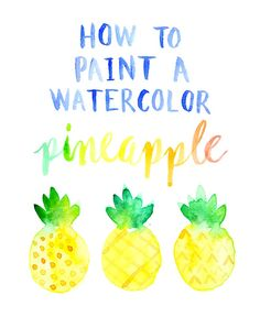 How to paint a watercolor pineapple by MichaelsMakers Lines Across