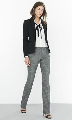 Herringbone Tweed Slim Editor Suit $79.90 - $108.00