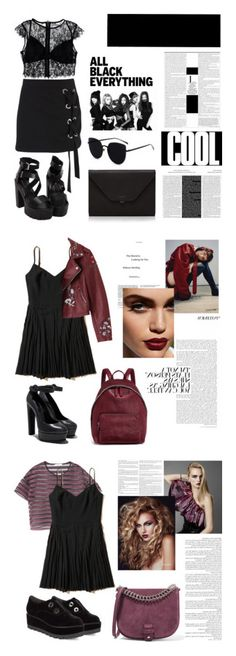 """""""dark colors"""" by llemia ❤ liked on Polyvore featuring Boohoo, Nasty Gal, Valextra, Ultimate, Hollister Co., STELLA McCARTNEY, MANGO, Donna Karan, Little Liffner and By Terry"""
