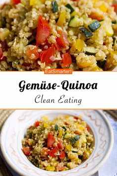 clean eating recipes for dinner Gemse-Quinoa - smarter - Kalorien: 227 kcal - Zeit: 30 Min. Salad Recipes For Dinner, Easy Salad Recipes, Chicken Salad Recipes, Easy Salads, Pasta Recipes, Soup Recipes, Dessert Recipes, Healthy Beef Recipes, Ground Beef Recipes Easy