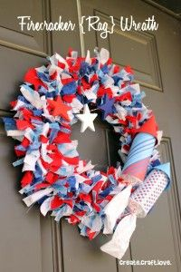 firecracker rag wreath....