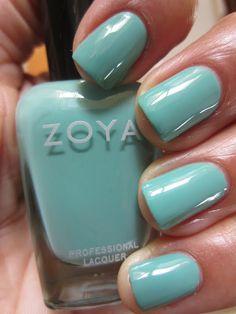 The Queen of the Nail: Zoya Summer 2012 Beach Collection - Arizona, Tracie and Wednesday nail polishes Hair And Nails, My Nails, Fancy Hands, Shoe Nails, Green Nail Polish, Nail Art Galleries, Mani Pedi, Tiffany Blue, Nail Arts