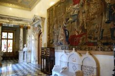 Peles Castle, Marble Hall - Romania Romanian Castles, Inside Castles, Peles Castle, European Decor, Palace Interior, Carpathian Mountains, Abandoned Buildings, Palaces, Old World