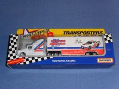 1994 NASCAR Matchbox Superstars . . . Loy Allen #19 Hooters Racing . . . 1/87 Scale Transporter Diecast . . . Series II . . . Limited Edition by NASCAR. $3.95