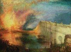 "mydarkenedeyes: ""Joseph Mallord William Turner. (1775-1851). 1. Fishermen at Sea (1796) 2. Peace Burial at Sea (1842) 3. The Burning of the Houses of Lords and Commons (1834-35) 4. The Burning of the..."