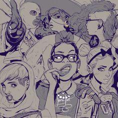 GIRLS COMP 1, Icky H. on ArtStation at https://www.artstation.com/artwork/lNnAG
