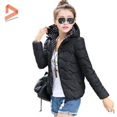 New Winter Outdoor Parka Women 2015 Fashion Solid Color Short Style Cotton Down Coat Warm Winter Coat Plus Hot Selling