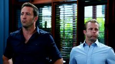 Sometimes I just love my boys because they're so cute! #H50 #AlexOloughlin #ScottCaan