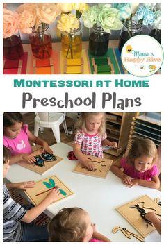 Montessori at Home Preschool Plans - Free Unit Study Printable