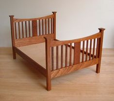 Edwardian Double Mahogany Bed Kit - Click Image to Close Miniature Furniture, Dollhouse Furniture, Bedroom Stools, Mirror Kit, Four Poster Bed, Arts And Crafts House, Blanket Box, Dollhouse Miniatures, Dollhouse Ideas