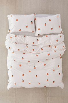 Shop Peaches Duvet Cover at Urban Outfitters today. We carry all the latest styles, colors and brands for you to choose from right here. Bed Sets, Duvet Sets, Queen Bed Dimensions, Peach Bedding, Girl Bedding, Duvet Covers Urban Outfitters, Decoration Inspiration, Luxury Bedding Sets, My New Room