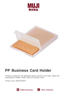[Business Card Case series] Made from polypropylene material (plastic transparent). Stores about 20 business cards