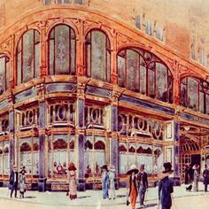 The new Harrods in Old Gas Stations, Georgian Era, Old London, Department Store, Harrods, Vintage Images, About Uk, Wonders Of The World, Barcelona Cathedral