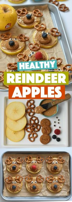 Reindeer Apple Slices - Christmas Recipes for Kids