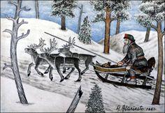 Andreas Alariesto was an artist in Lapland, Finland