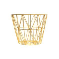Geometric Gold Basket