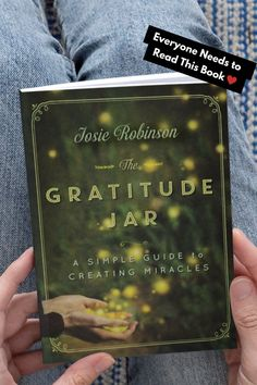 The Gratitude Jar: A Simple Guide to Creating Miracles by Josie Robinson. Lovely little book about how the simple practice of gratitude can transform your life! Gratitude Jar, Deepest Gratitude, Practice Gratitude, Gratitude Quotes, Attitude Of Gratitude, Meditation Scripts, Spiritual Transformation, Life Changing Books, Power Of Prayer