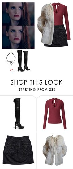 """""""Cheryl Blossom - Riverdale"""" by shadyannon ❤ liked on Polyvore featuring Stuart Weitzman, Miss Selfridge, 3.1 Phillip Lim and Yves Saint Laurent"""