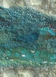 Image result for painting water in stitches Textiles Techniques, Techniques Couture, Textile Fiber Art, Textile Artists, Fabric Decor, Fabric Art, Embroidery Art, Creative Embroidery, A Level Textiles