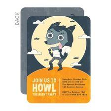 Moonlit Werewolf Halloween Party Invitations