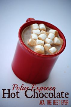The Farm Girl Recipes: Polar Express Hot Chocolate (aka The Best Hot Chocolate EVER!)#hot chocolate
