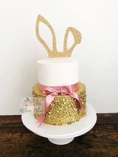 EASTER BUNNY EAR CAKE TOPPER/EASTER CAKE TOPPER/HAPPY EASTER CAKE TOPPER/BUNNY CAKE TOPPER/RABBIT EAR CAKE TOPPER/EASTER BUNNY CAKE TOPPER