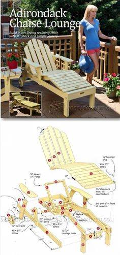 Reclining Sun Lounger Plans - Outdoor Furniture Plans and Projects | WoodArchivist.com