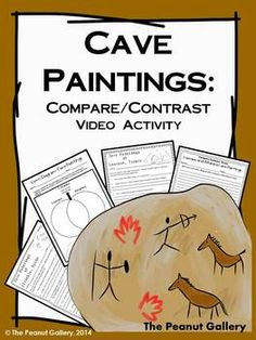 Your students will have the opportunity to view two video clips and learn about ancient cave paintings (while completing video response sheets). Students then complete Venn diagrams to compare and contrast the cave paintings and ultimately compose essays using their ideas. ($)