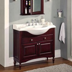 Empire Industries Windsor Single Bathroom Vanity, X X I Like The Dark Wood  And The Drawer And It Has The Necessary Narrow Depth. However The Top And  Basin ...