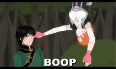 RWBY: Boop by Miku-Nyan02 -- the defining moment in Nora and Ren's exposition :)