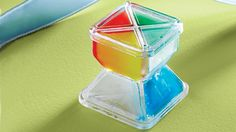 The Container Store's Spoiler Alert: remove from your freezer when the power goes out; the colored sections melt one at a time to tell you how long you have to consume the food, or if it's safer to throw the food out.