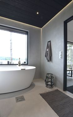 Build My Own House, Polished Plaster, Lets Stay Home, Sauna, Bathroom Renovations, Minimalism, Sweet Home, Interior Design, Modern