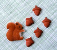 12- 6 squirrel 6 acorn sugar decorations $3.75