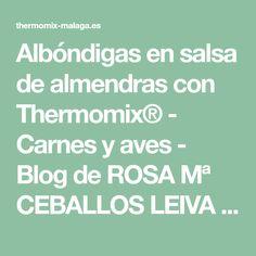 Albóndigas en salsa de almendras con Thermomix® - Carnes y aves - Blog de ROSA Mª CEBALLOS LEIVA de Thermomix® Málaga