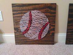 Baseball String Art created for my toddler son's room  https://www.etsy.com/shop/KKsSouthernCharmShop?ref=hdr_shop_menu