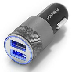 [CE&FCC Certified] Vafru 2 Port 3.1A USB Car Charger + IQ Technology | Best Car Charger for Cell Phone, Tablet & Other USB Electronic Devices | iPhone 6+ 6 5 5S 5C, iPad, iPod, Android, Samsung Galaxy S6 S5 S4 S3 S2 Note, Tablet and most USB devices (Black) Vafru http://www.amazon.com/dp/B010KA3ZMY/ref=cm_sw_r_pi_dp_G4qawb0W4MR3H